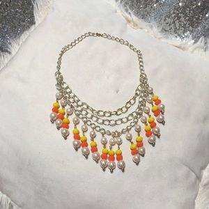 NWT Beaded Candy Corn Necklace